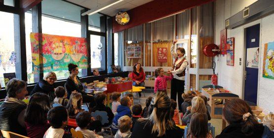 Bibliothèque Romain Rolland avec les mamans compteuses