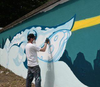 Fresque « Narvaline » (Groek) GSAF 2018 - rue Charles Beylier