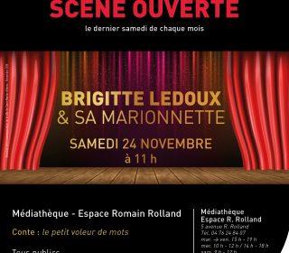 Portail culturel - SCÈNE OUVERTE - Brigitte Ledoux et sa marionnette
