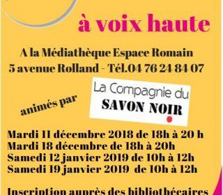 Portail culturel - ATELIERS LECTURE à VOIX HAUTE avec la Cie du Savon noir - à partir de 14 ans