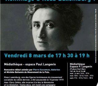 Portail culturel - Rencontre - Débat : Hommage à Rosa Luxemburg !