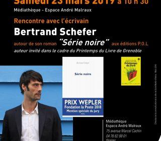 Portail culturel - RENCONTRE avec l'ECRIVAIN Bertrand SCHEFER