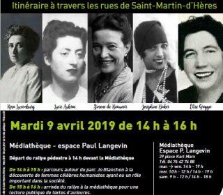 Portail culturel - RALLY RÉPUBLICAIN DES FEMMES CÉLÈBRES - Départ Médiathèque Paul Langevin