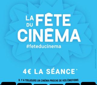 Portail culturel - Fête du cinéma 4€ la séance / du 30 juin au 3 juillet à Mon Ciné