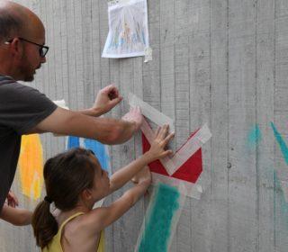 Portail culturel - Le STREET ART sinvite ...  Ateliers parents-enfants avec lartiste GROEK...